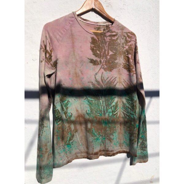 Organic wool t-shirt long sleeve 129